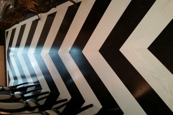Harringbone installation, custome design