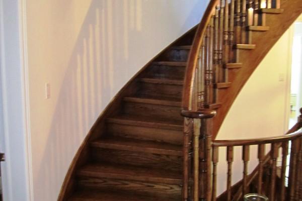 Installation of steps, capsystem, staining