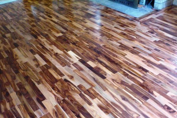 Installation hardwood