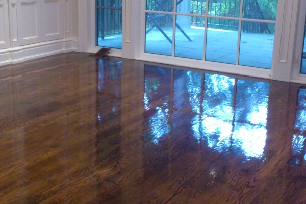Just varnished floor