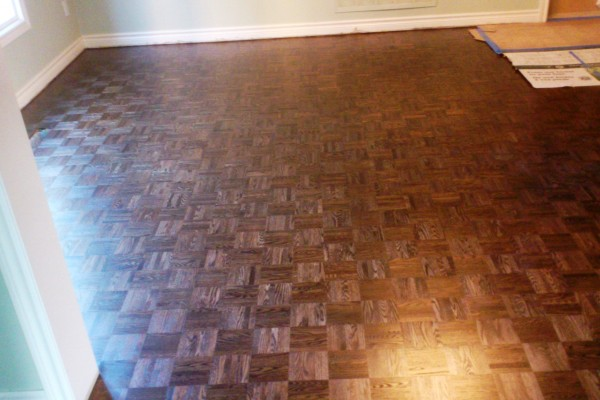 Parquet refinishing, staining, finishing
