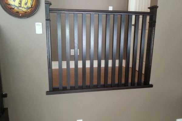 Refinished Stair Railing GTA